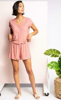 Pink Martini Flavie Shorts- Dusty Pink