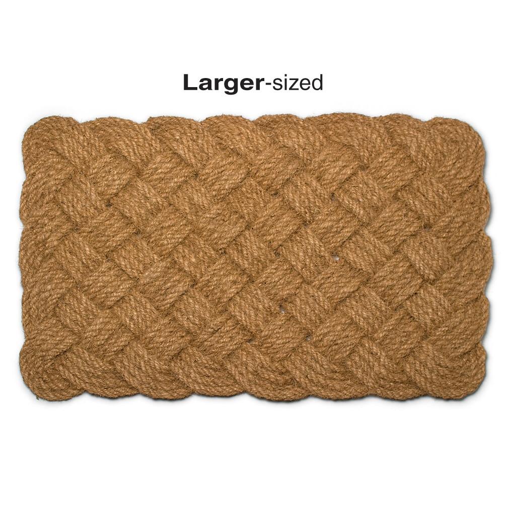"""Natural Woven Rope Doormat 22""""x33"""""""