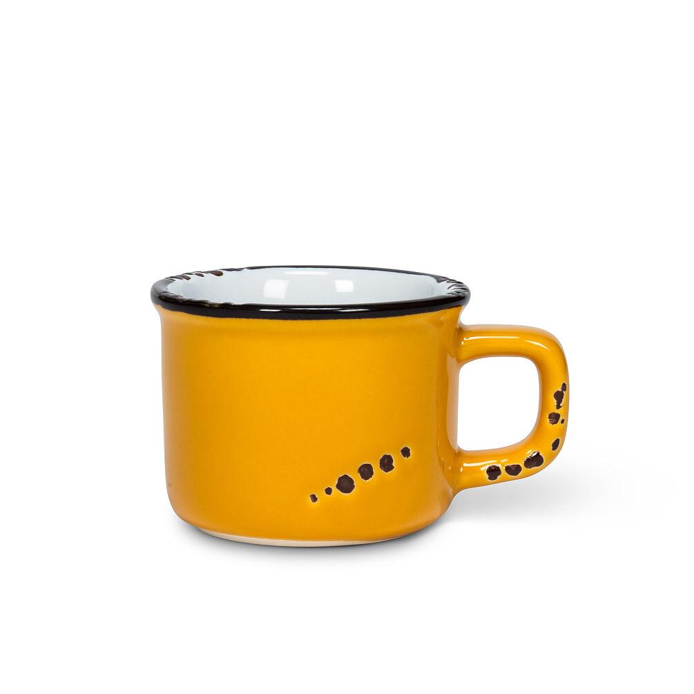 Enamel Look Ochre Espresso Cup