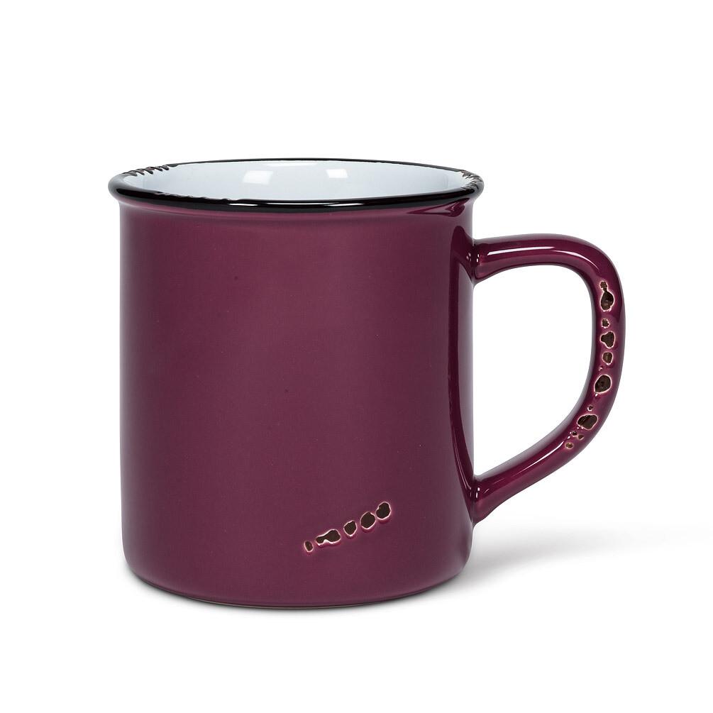 Enamel Look Plum Mug