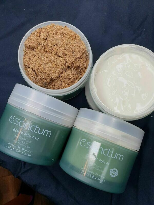 Sanctum Body Polish and Body Balm 250gm Combo