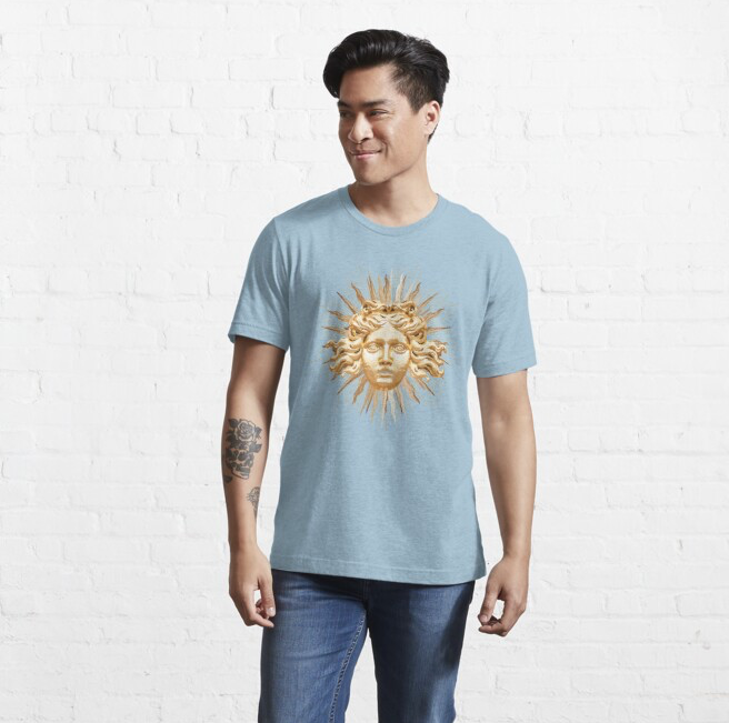 Golden Sun King Fitted T-Shirt