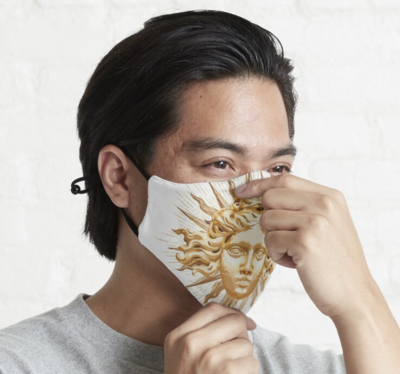 Golden Sun King Fitted 3 Layer Facemask