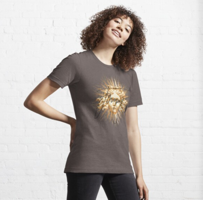 Masked Sun King Fitted T-Shirt