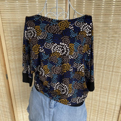 Pattern Batwing Top