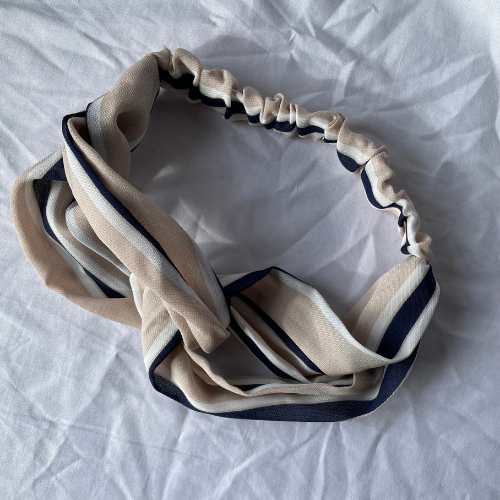 Beige Stripe  headband