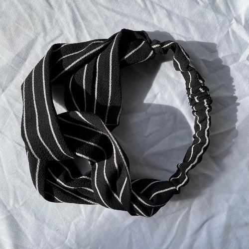 Black Pinstripe headband