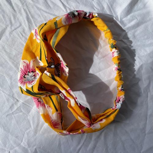 Mustard Floral headband