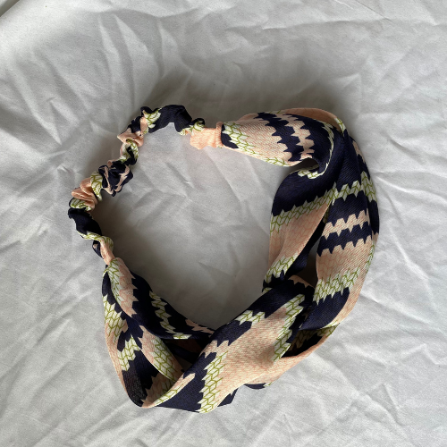 Dark Blue/Pink headband