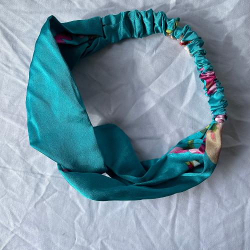 Silk TURQUOISE headband
