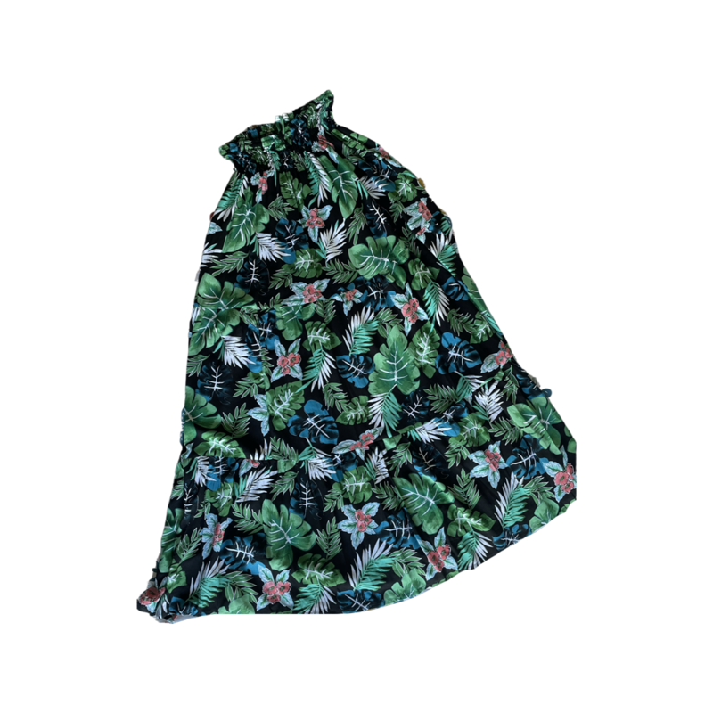 Summer Floral Peasant Maxi Skirt - With Pockets