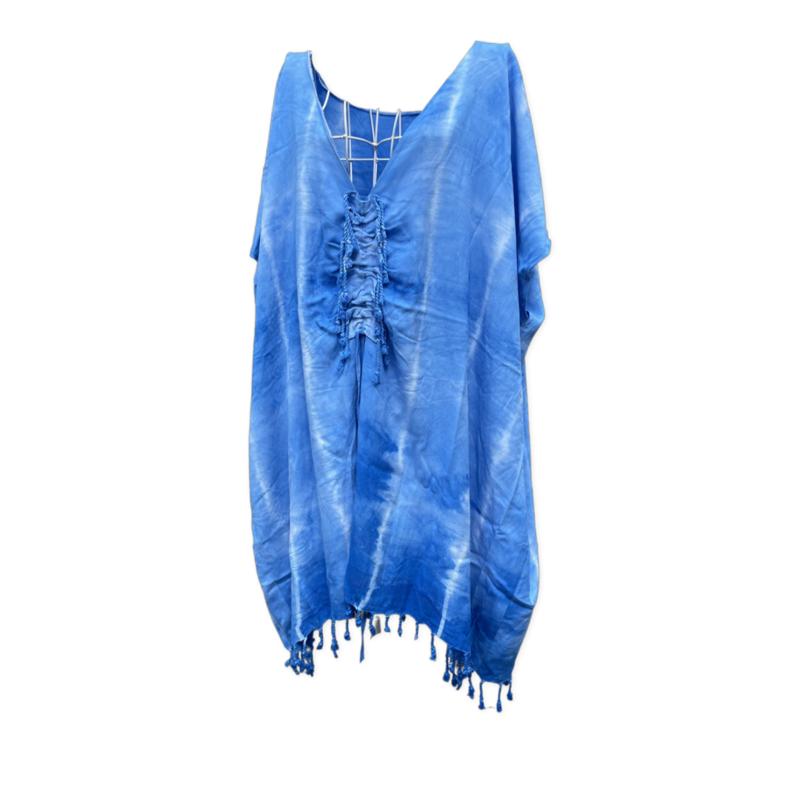 Tunic Dress - Blue Tie Dry