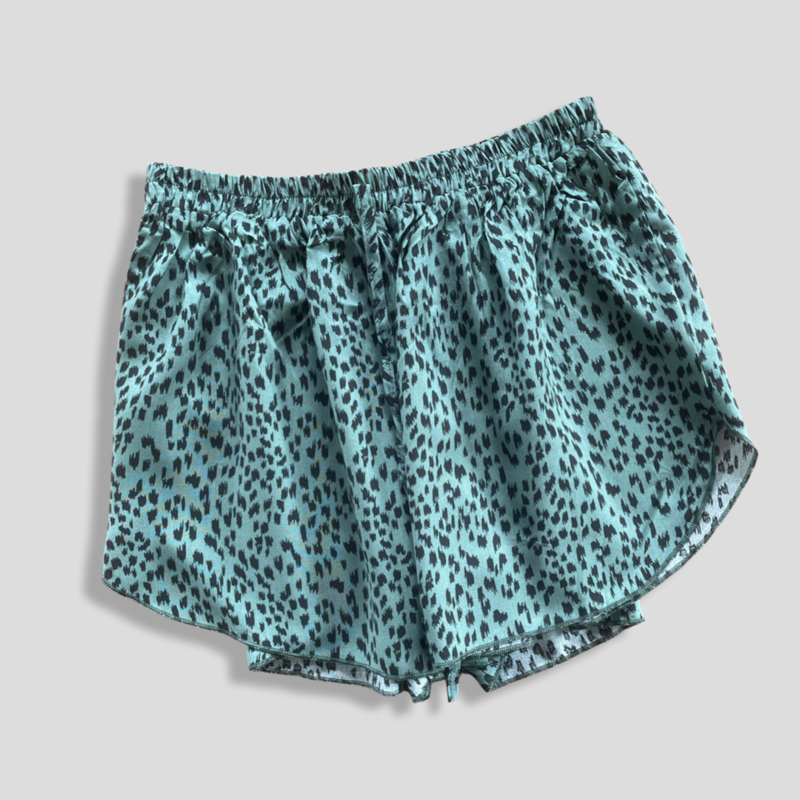 Classic Shorts - Green Leopard