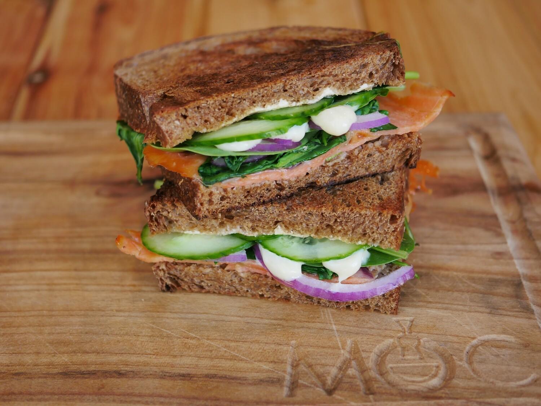 Smoke Salmon Sandwich