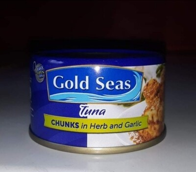 Gold Seas Tuna Chunks in Herb & Garlic (90g)