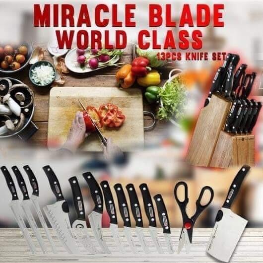 Miracle Blade 13pcs Kitchen Knife Set