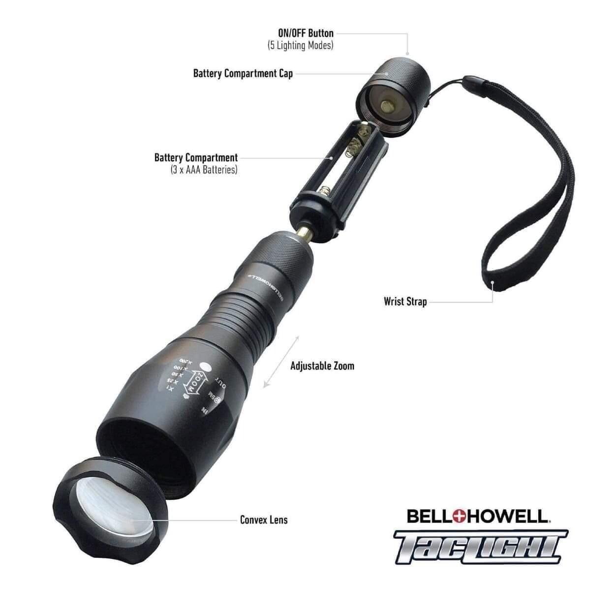 Turbo Light LED Flashlight with 5 modes