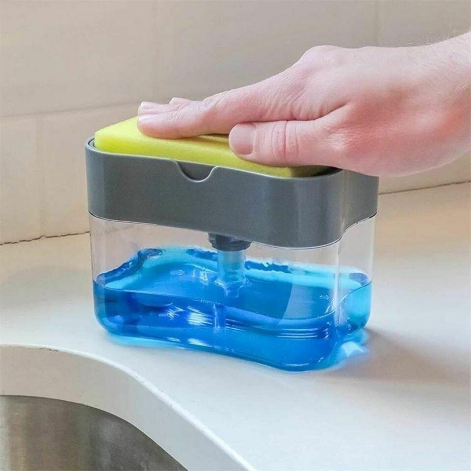 2-in-1 Sponge Box with Soap Dispenser