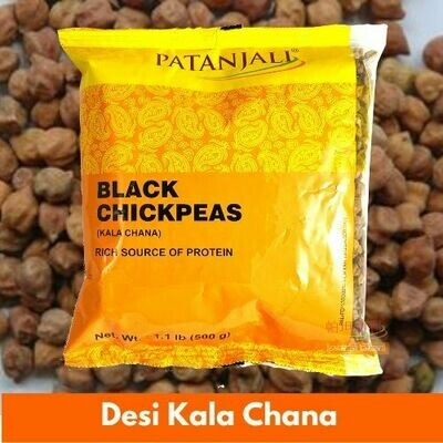 Patanjali Desi Kala Chana (Indian Chickpeas) 500g