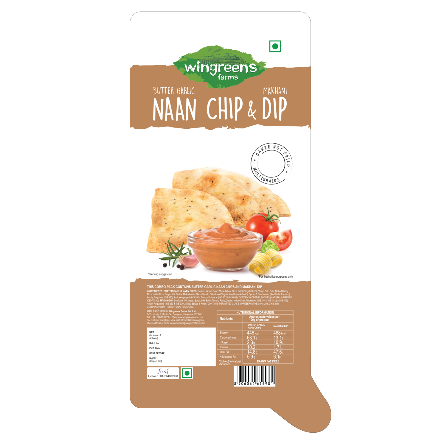Butter Garlic Naan Chips with Makhani Dip