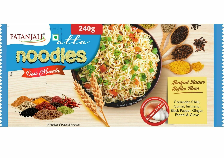 Patanajli Desimasala Atta Noodles 60gX4 (240g)