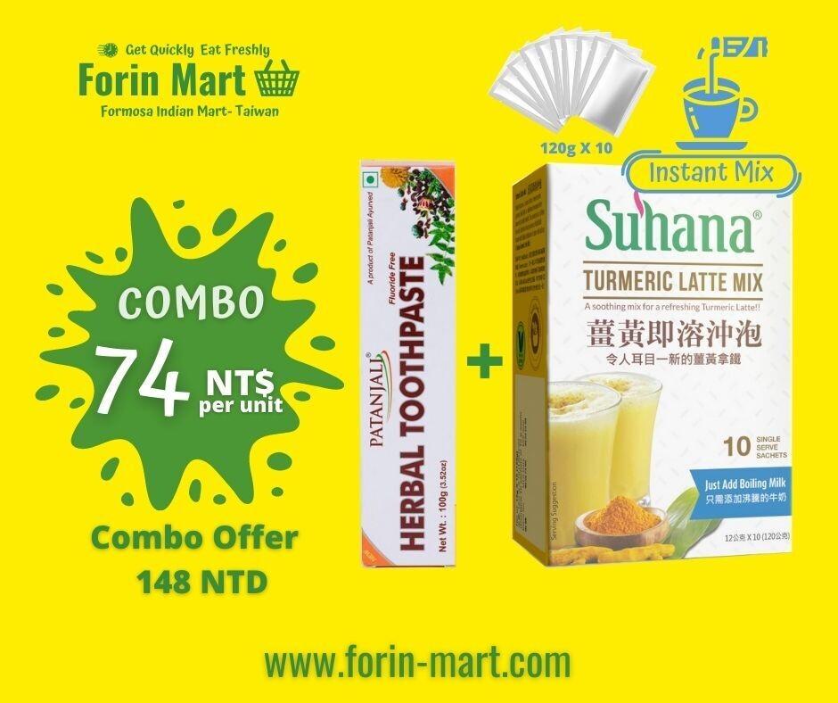 Combo Turmeric Latte + Herbal Toothpaste