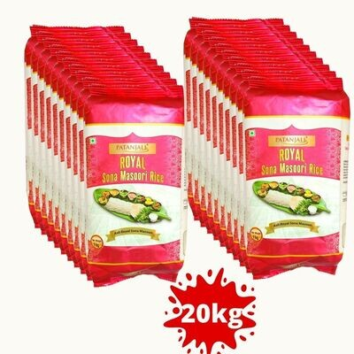 Patanjali Royal Sona Masoori Rice 20kg