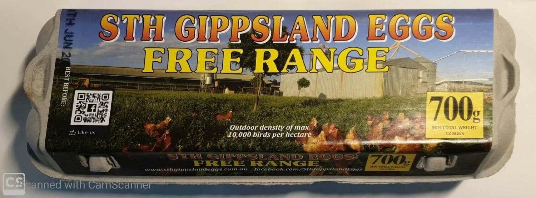 STH GIPPSLAND EGGS FREERANGE 1 DOZEN
