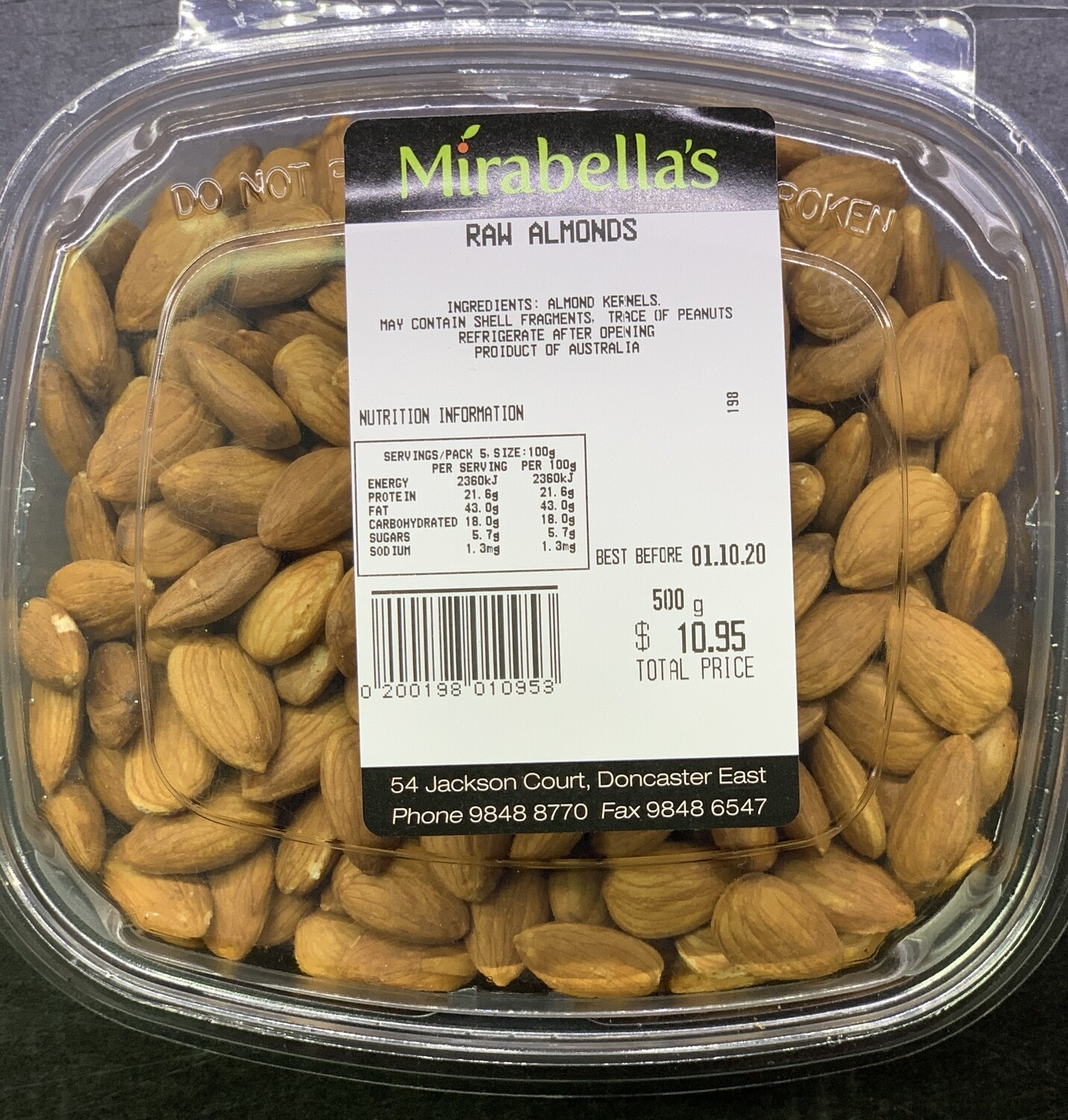 Raw Almonds (500g)