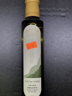 Tuscan Herb Infused Olive Oil (250g)
