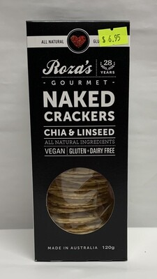 Chia and Linseed Crackers (120g)