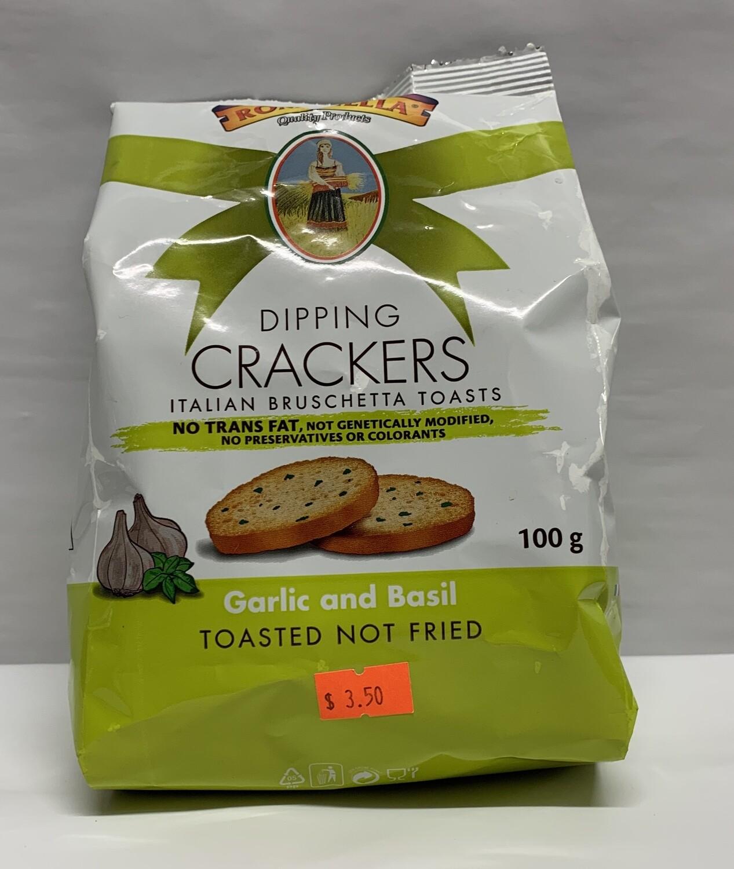 Garlic And Basil Dipping Crackers (100g)