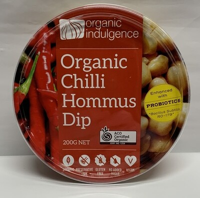 Organic Chilli Hummus Dip (200g)