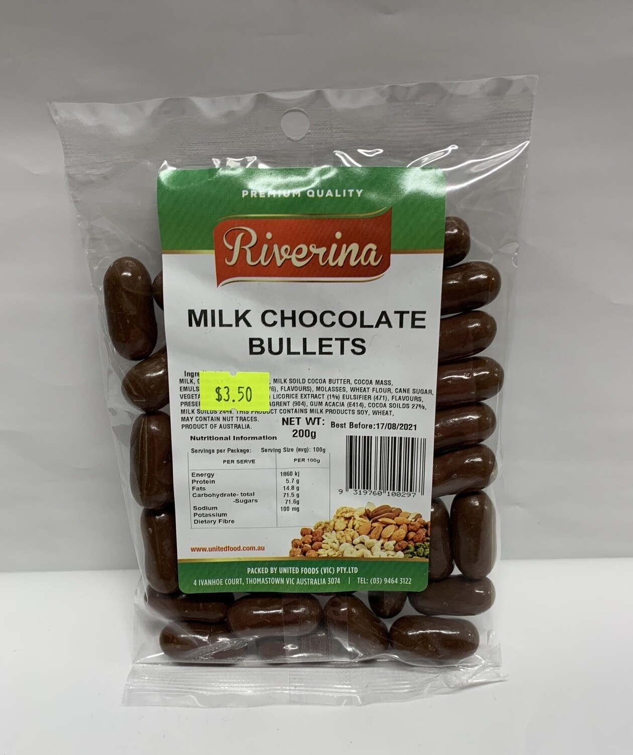 Milk Chocolate Bullets (200g)