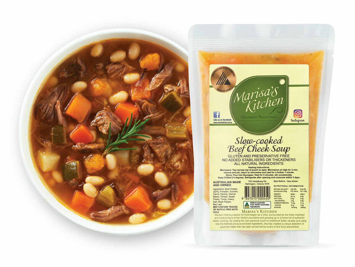 Slow-cooked Beef Soup (500ml)