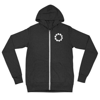 Unisex zip hoodie(ユニセックス 軽量ジップアップパーカー - Bella + Canvas 3939)