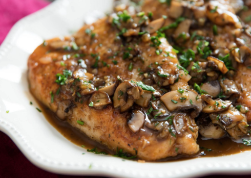 This weeks Chef Special: Wood Fired Chicken Marsala over buttery handmade fettuccine noodles with wood fired asparagus and fresh herb focaccia bread.
