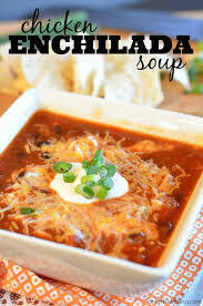 Chicken, Baja Chicken Enchilada Soup