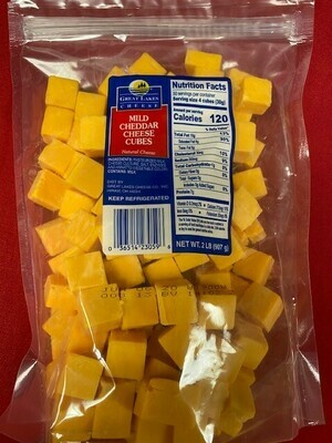 Cheese Mild Cheddar Cheese Cubes 2 lbs