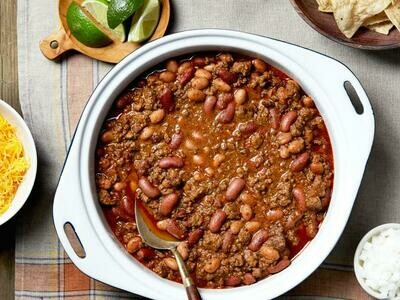 Bowl of Our AWARD winning Chili,  pick your serving size