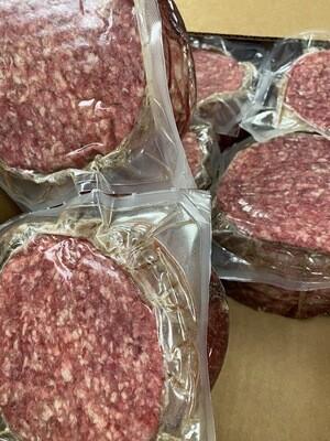 Beef Hamburger patties raw Frozen 6 patties in each package