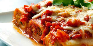 Meal- Roasted Mediteranean Cannelloni with Marinara Sauce and Bread Stick. pick your Head count