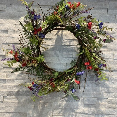 Country Flower & Lavender Wreath 24