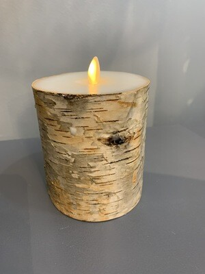4x5 Birch Wrapped Pillar Candle