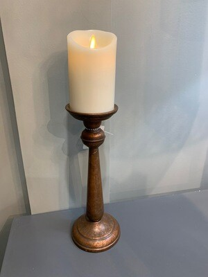 Copper Candlestick Lg