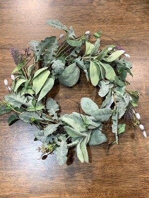 Lambs Ear/Willow/Thistle Wreath