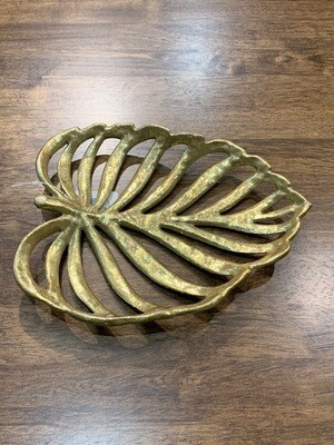 Gold Cast Iron Leaf