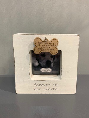 Heaven Dog Tag Frame