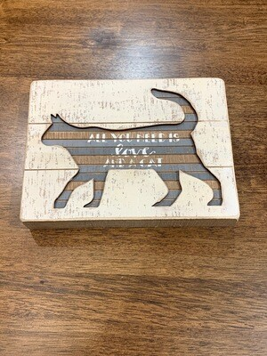 Cat Slat Box Sign