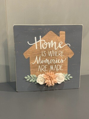 Memories are Made Box Sign